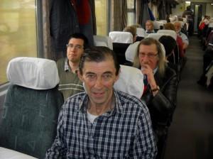 """A """"fiúk"""". Városi Ferenc most utazik először a csapattal."""